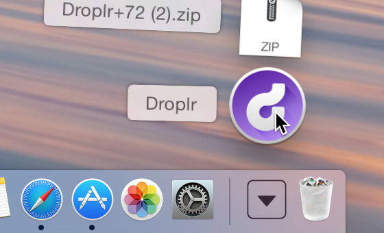 Droplr in downloads
