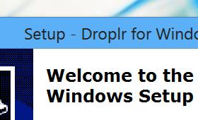 Run the Droplr installer